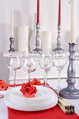 Festive table setting — Stock Photo