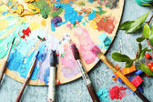 Professional art materials — Stock Photo