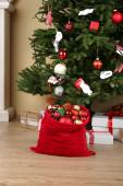 Christmas toys and gifts — Stock Photo