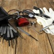 Tools of picking locks — Stock Photo #60786021
