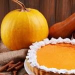 Homemade pumpkin pie — Stock Photo #60786163