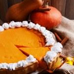 Homemade pumpkin pie — Stock Photo #60786209