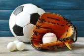 Diversi sport palle — Foto Stock