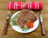 Delicious grilled meat — Stock Photo
