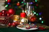 Slouží vánoční stůl — Stock fotografie