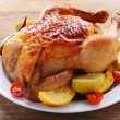 Delicious baked chicken — Stock Photo #60797755