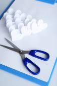 Аппликация бумага с сердечками — Стоковое фото