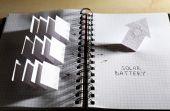 Applique paper with building — Stok fotoğraf