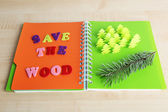 Concept of conservation forests cut paper — Stock Photo