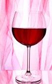 红葡萄酒杯 — 图库照片