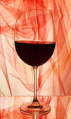 Red wine glass — Stock Photo