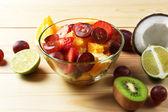 Fruit salad in bowl — Stock Photo