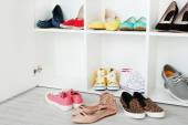 Collection of fashion shoes — Stock Photo