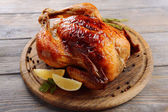 Delicious baked chicken — Stock Photo