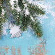 Christmas composition with fir tree — Stock Photo #60800423