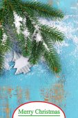 Christmas composition with fir tree — Stock Photo