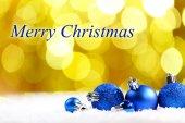 Barevné vánoční koule — Stock fotografie