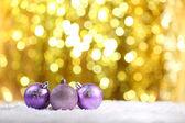 Bolas de natal coloridas — Fotografia Stock