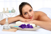 Woman in spa salon — Stock Photo