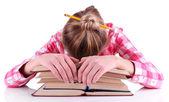 Girl reading book — Φωτογραφία Αρχείου