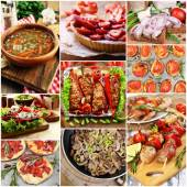 Delicious homemade food collage — Stock Photo