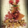 Christmas tree of Christmas toys on wooden table close-up — Stock Photo #60838203