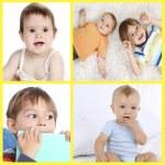 Cute little children collage — Stock Photo #60838967