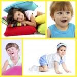 Cute little children collage — Stock Photo #60838969