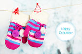 Happy December, greeting card — Stock Photo