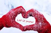 Let it snow, greeting card — Foto de Stock