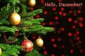 Aralık kartpostal Merhaba — Stok fotoğraf