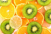 Sliced citrus close-up background — Stock Photo