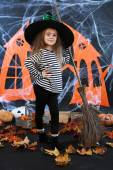 Little girl Witch — Stok fotoğraf
