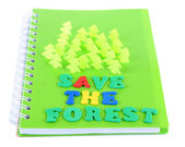 Concept of conservation forests — Stock Photo