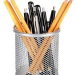 Pens and sharp pencils — Stock Photo #60874851