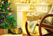 Beautiful Christmas interior — ストック写真