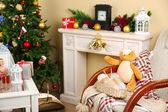 Beautiful Christmas interior — Stok fotoğraf
