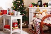 Schöne Weihnachten-Interieur — Stockfoto