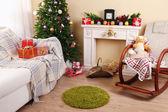 Beautiful Christmas interior — Stock Photo