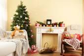 Beautiful Christmas interior — Foto Stock