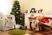 Beautiful Christmas interior — Stock fotografie