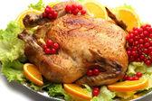 Baked chicken for  dinner — Stock Photo