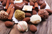 Sweet chocolates assorted — Stock Photo