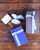Happy Father's Day with gift boxes — Stock Photo