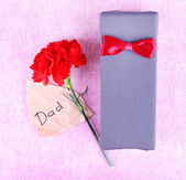 Happy Father's Day with gift box — Stock Photo