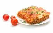 Portion of tasty lasagna — Stock Photo