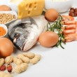 Food high in protein close-up — Stock Photo #60894545