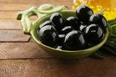 Black marinated olives — Stock Photo