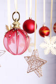 Beautiful red Christmas decorations — Foto de Stock