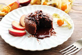 Hot chocolate pudding — Stock Photo